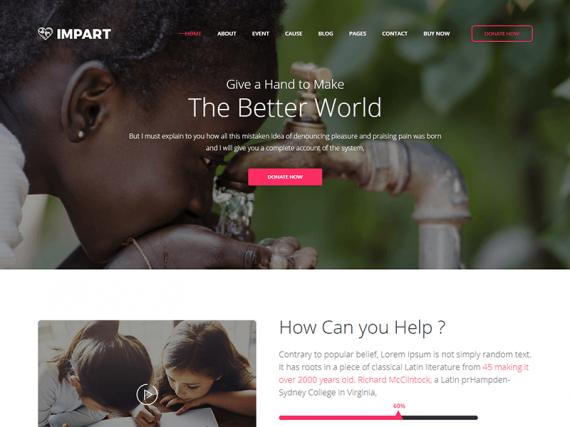 Impart – Premium Charity HTML Template