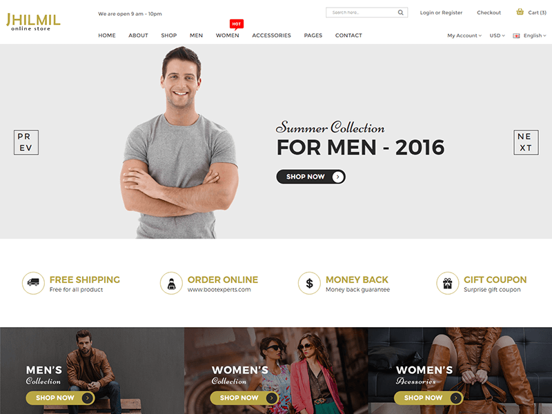 eCommerce HTML Template - Jhilmil