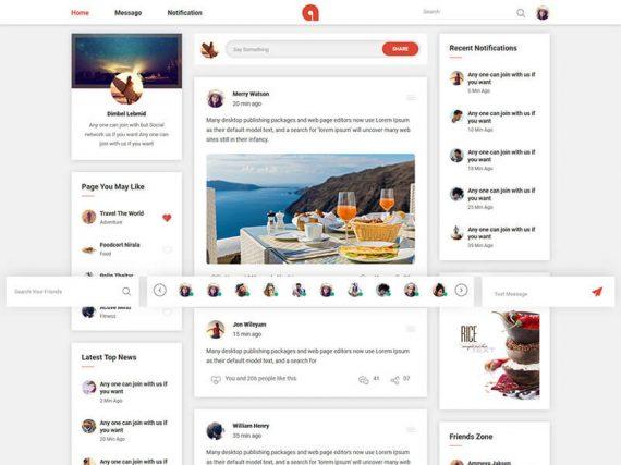 Adda - Social Network HTML Template