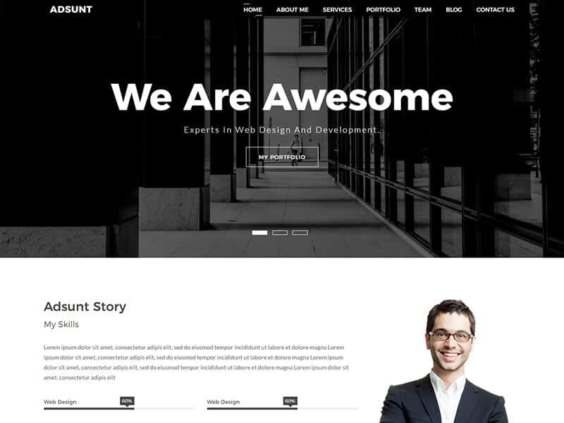 Adsunt - One Page Portfolio Template