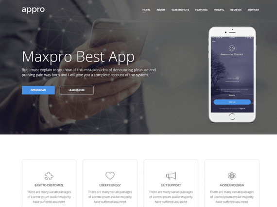 Appro – App Landing Page HTML Template