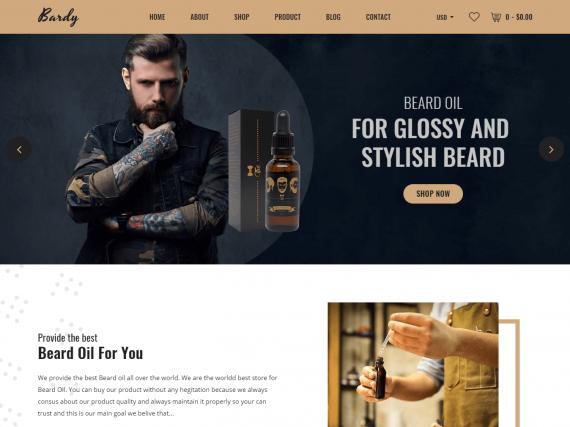 Bardy - Beard Oil eCommerce HTML Template
