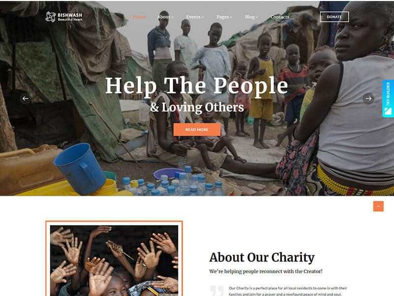 Bishwash - Charity Bootstrap 4 Template