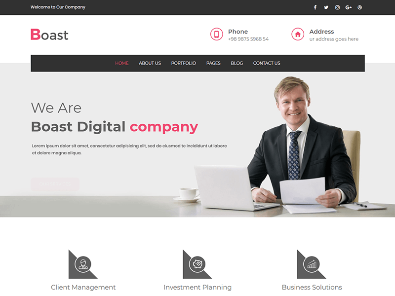 Boast – Corporate Business HTML Template