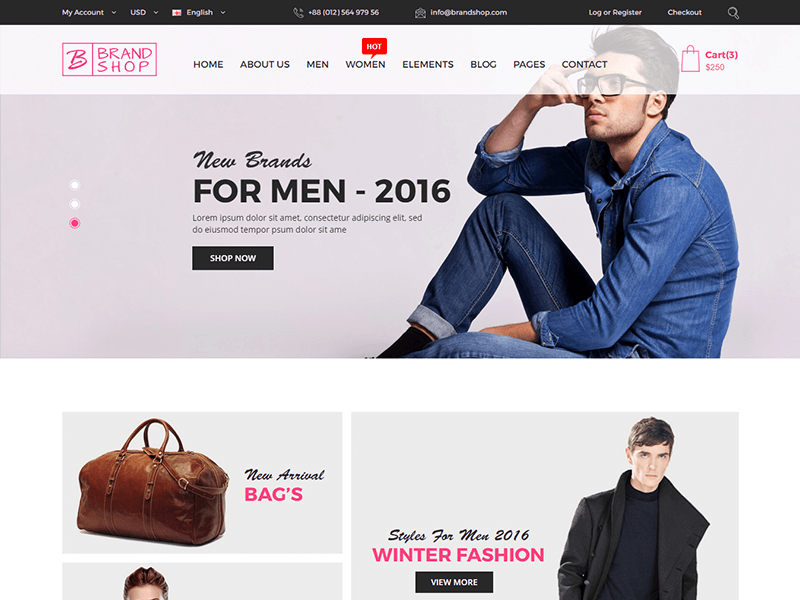 Brandshop - Fashion HTML Template