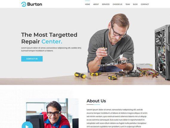 Burton - Repair Service Landig Page Template