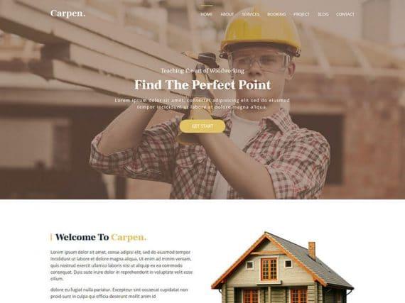 Carpen - Carpenter Service Landing Page Template