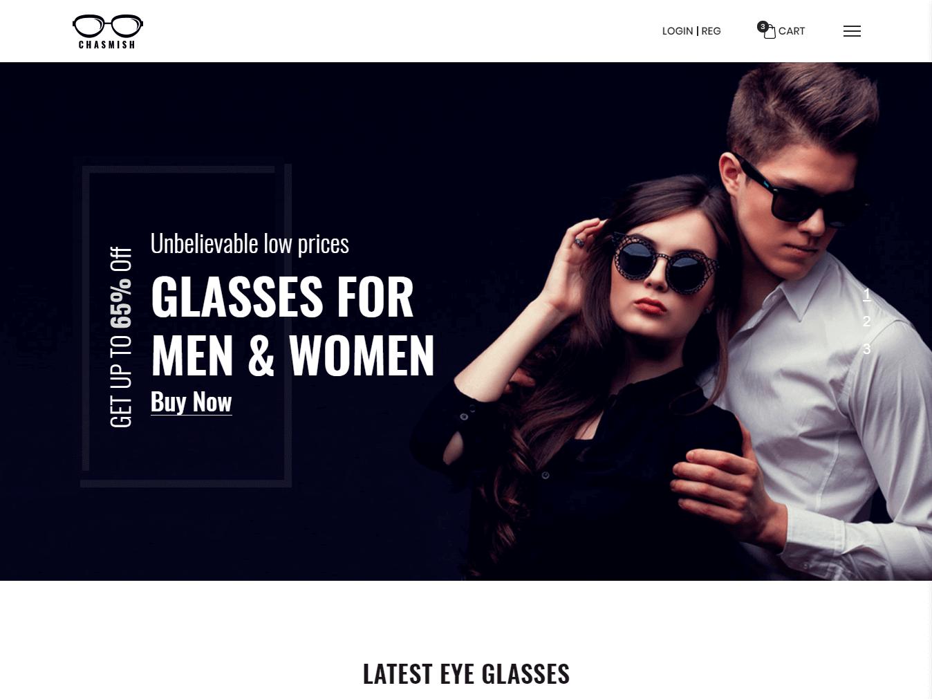 Chasmish - Glasses Store HTML Template