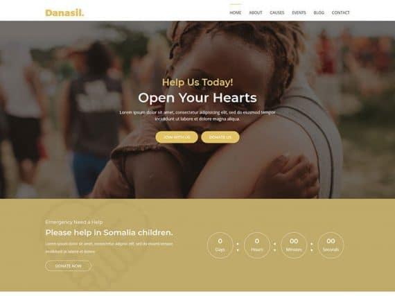 Danasil - Non Profit Landing Page Template