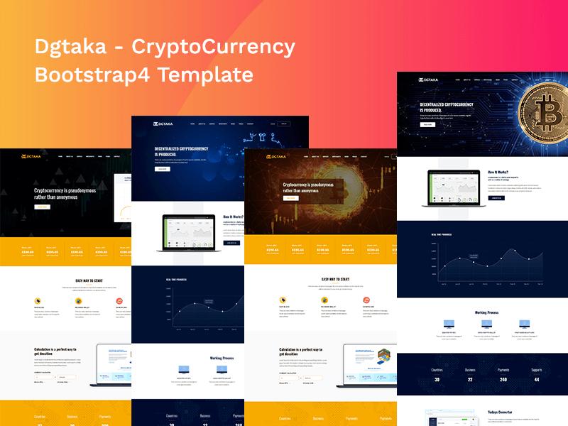 Dgtaka - Cryptocurrency Bitcoin HTML Template