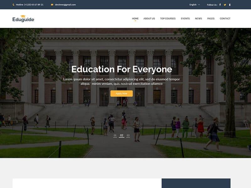 Eduguide – Education HTML Template