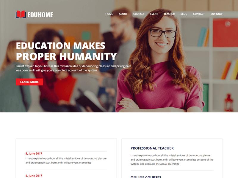 Eduhome - Education HTML Template