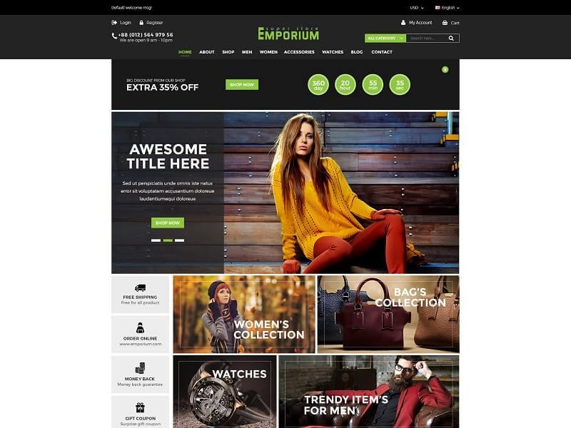Emporium - eCommerce Bootstrap Template