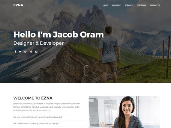 Ezna - Personal Portfolio Template