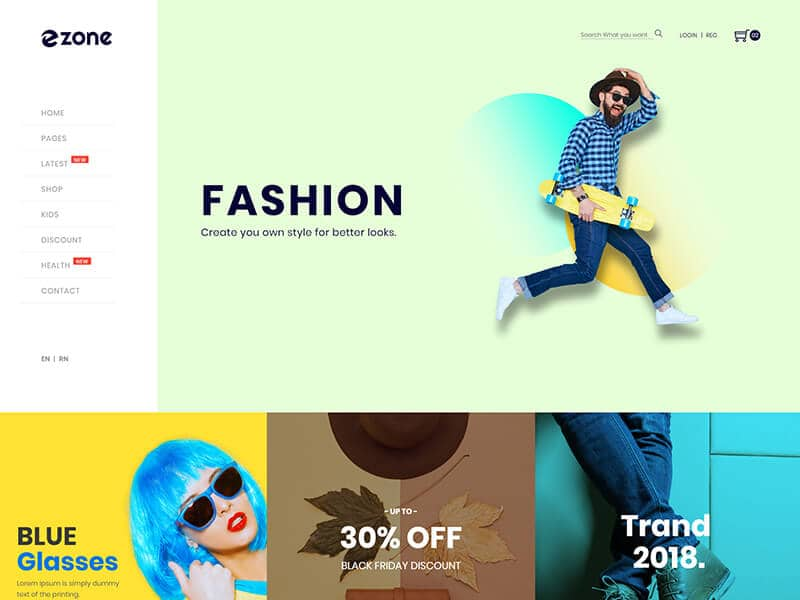Ezone - Mega Shop eCommerce HTML Template