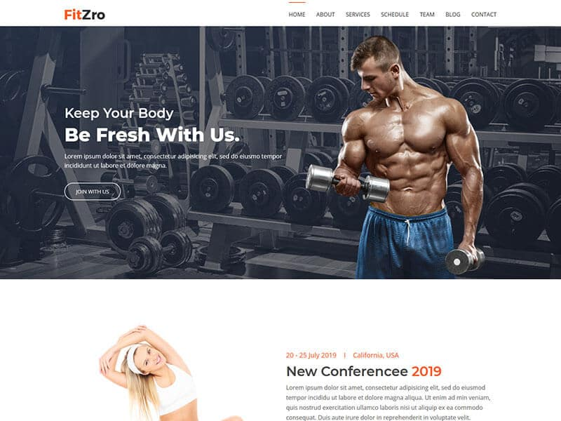 Fitzro - Gym & Fitness HTML Template