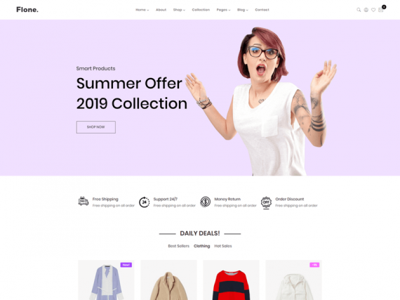 Flone - Clean, Minimal eCommerce HTML Template
