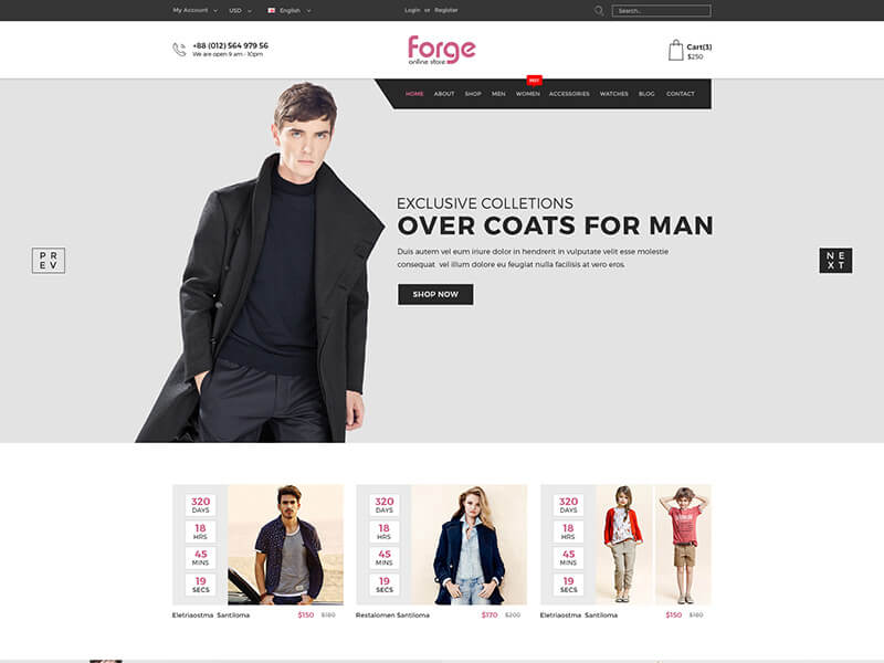 Forge - Fashion Store HTML Template