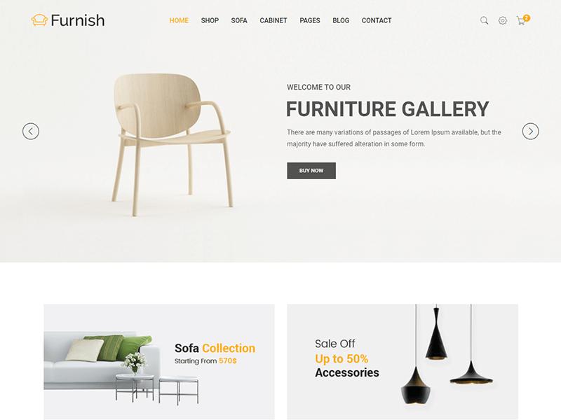 Furnish - Minimal Furniture HTML Template