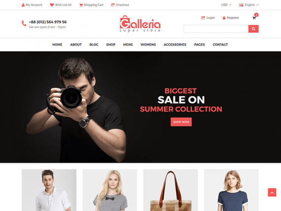 Galleria - eCommerce HTML5 Template