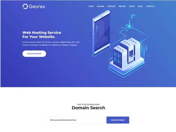 Geores - Hosting Service Landig Page Template