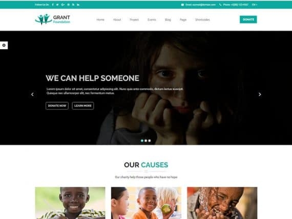 Grant Foundation – Nonprofit Charity HTML Template