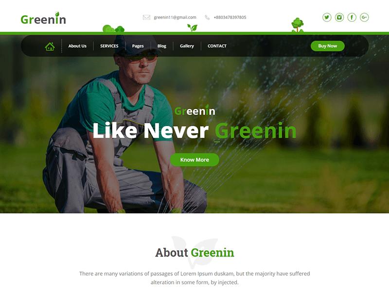 Greenin - Gardening and Landscaping HTML Template