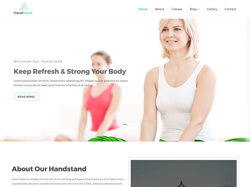 Handstand - Yoga and Fitness HTML Template