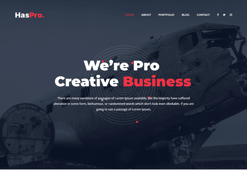 Haspro - Corpoate Business HTML Template
