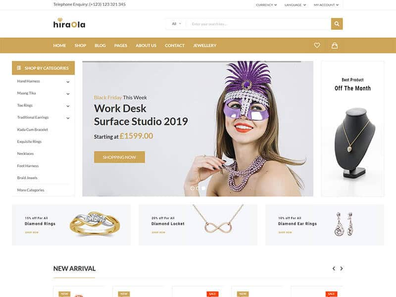 Hiraola - Jewelry Store HTML Template