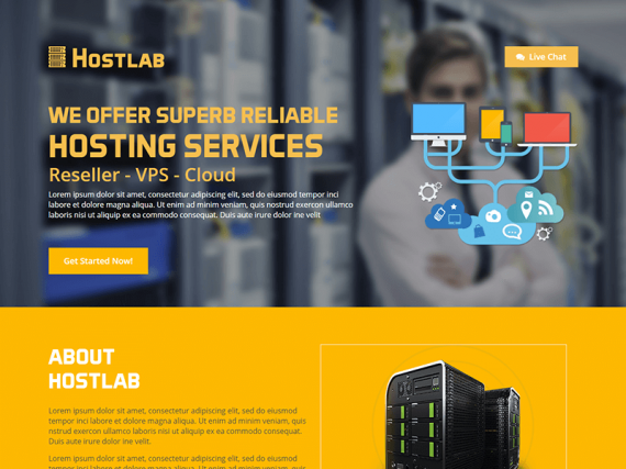 Host Land – Hosting Services HTML Template