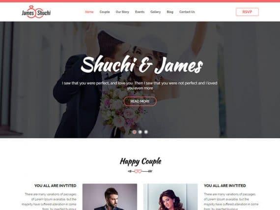 James & Shuchi Wedding HTML Template