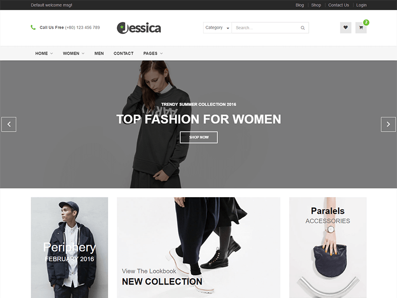 Jessica – Electronics And Shopping Template