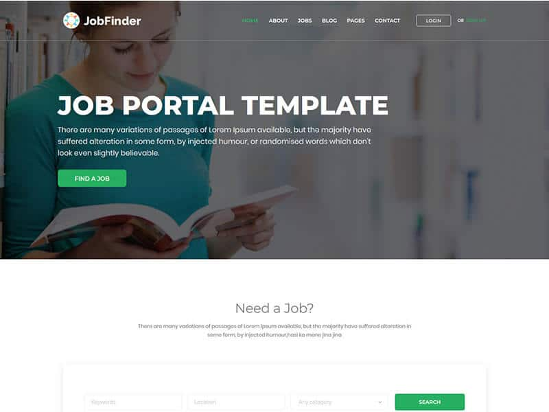 Jobfinder - JobBoard Bootstrap Template