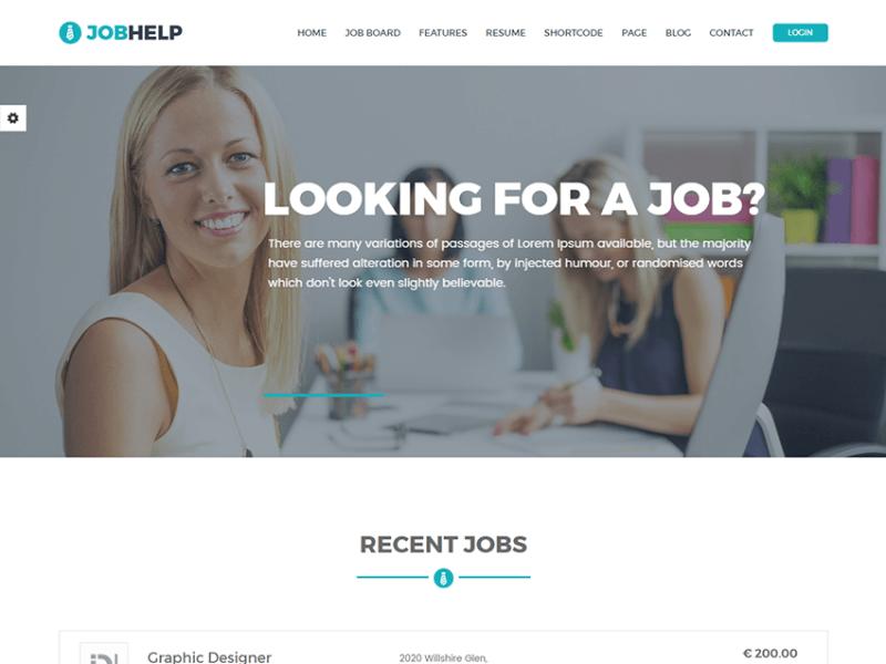 Jobhelp - Job Board Responsive HTML Template