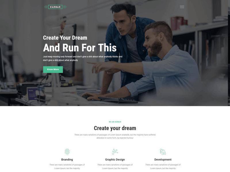 Karbar - Multipurpose HTML Template
