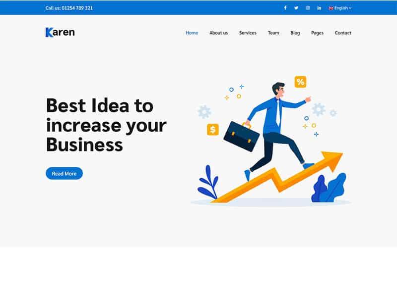 Karen – Corporate Business Bootstrap 4 Template