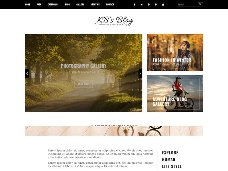 KB's - Blog HTML Template