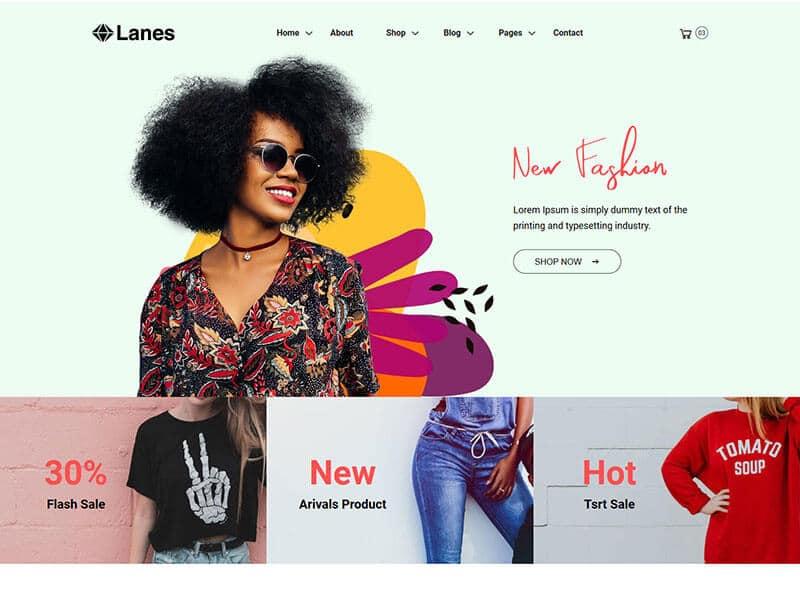 Lanes - Fashion Store HTML Template