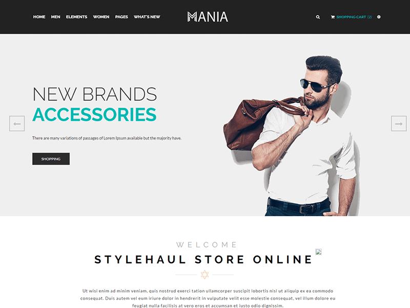 Mania - Fashion HTML Template