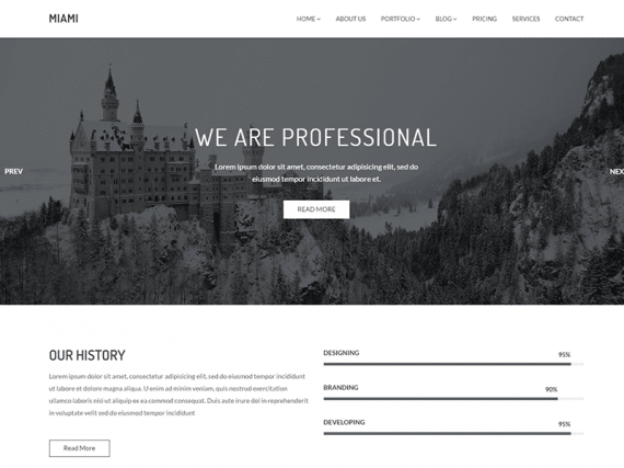 Miami - Minimal Portfolio HTML Template