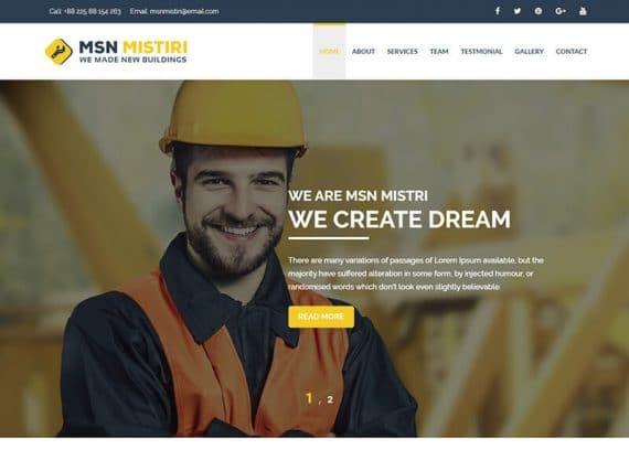 Msn Mistiri - Construction HTML5 Template