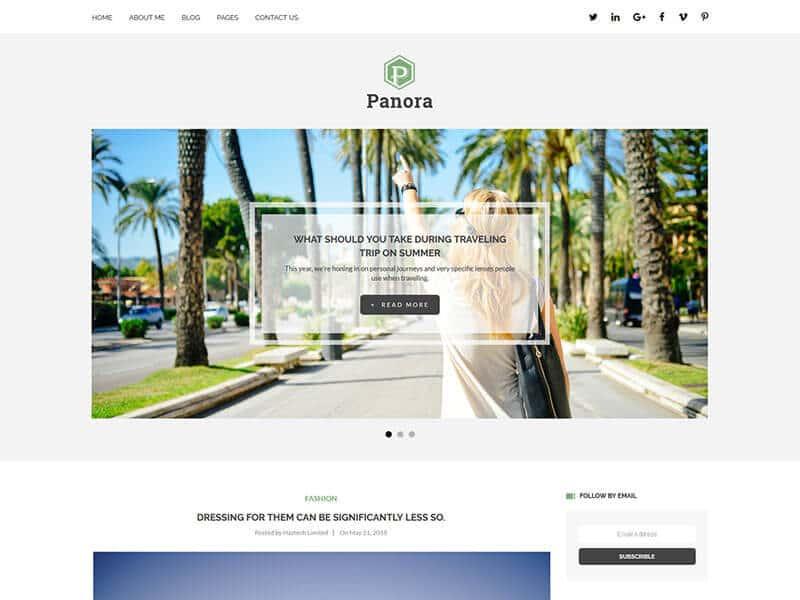 Panora - Blog HTML Template