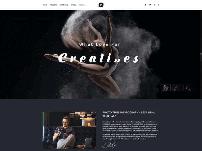 Photohub - Creative Photography HTML Template