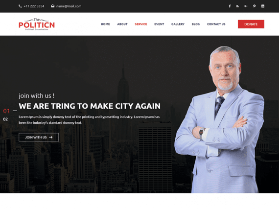 The Politicn – Political HTML Template