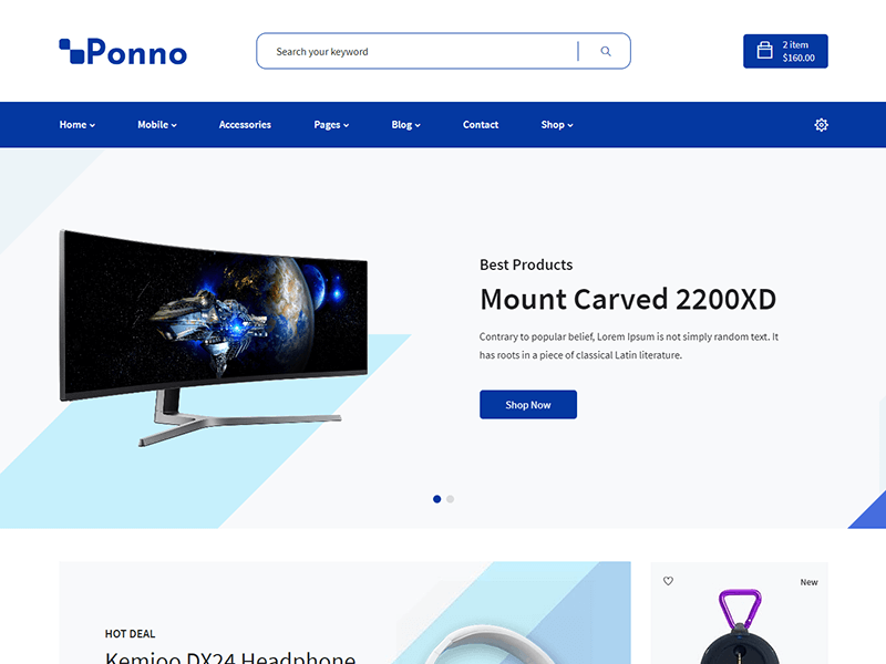 Ponno - Electronics Store HTML Template