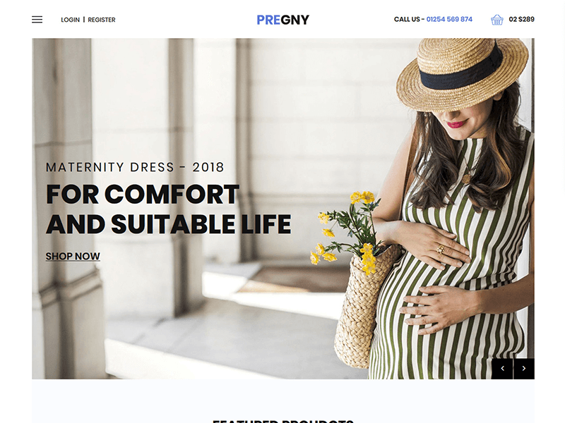 Pregny - Maternity Shop HTML Template
