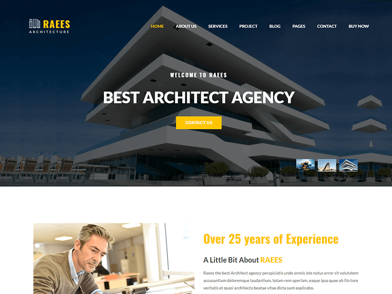 Raees – Architecture & Architect HTML Template