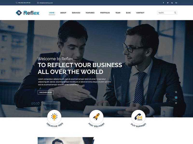 Reflex - Corporate Responsive HTML Template