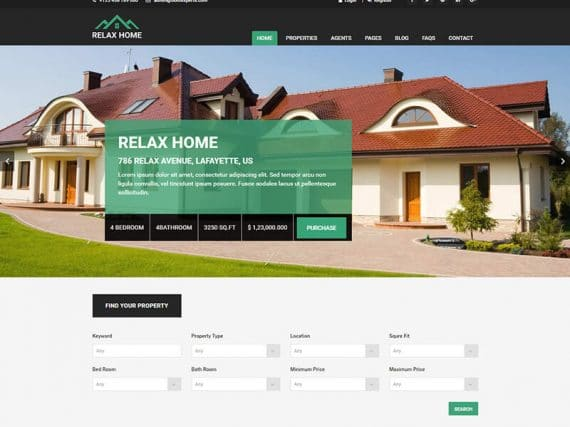 Relax Home - Real Estate HTML Template